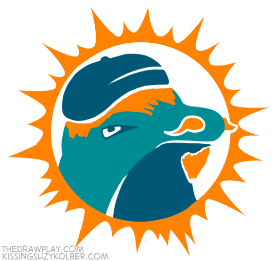 Dolphins What if NFL logos were designed by hipsters?