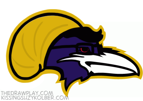 Ravens What if NFL logos were designed by hipsters?