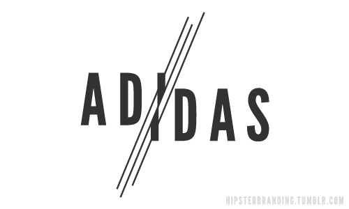 hipster branding adidas Hipster branding: Corporate logos redesigned to be more hipster