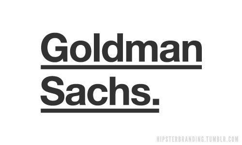 hipster branding goldman sachs Hipster branding: Corporate logos redesigned to be more hipster