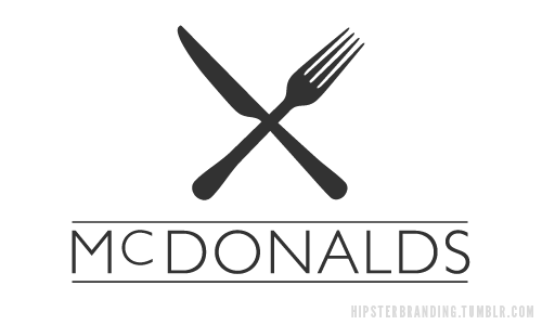 hipster branding mcdonalds Hipster branding: Corporate logos redesigned to be more hipster