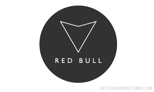 hipster branding red bull Hipster branding: Corporate logos redesigned to be more hipster