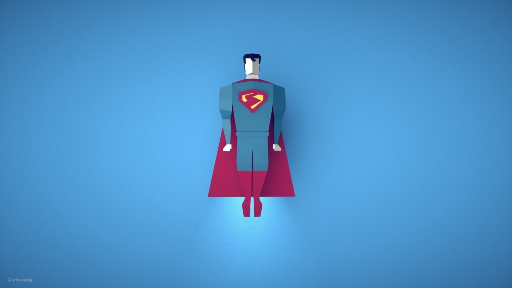 manofsteel HD 1024x576 Incredible 3D artwork inspired from popular tv shows and movies