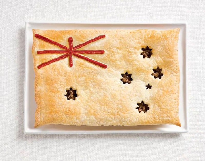 national flag made food10 18 National Flags Made From Food