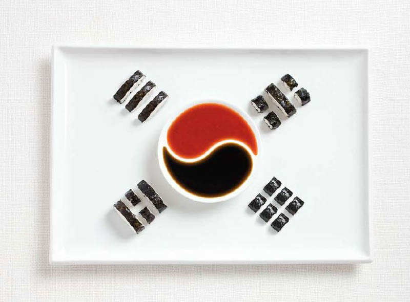 national flag made food11 18 National Flags Made From Food
