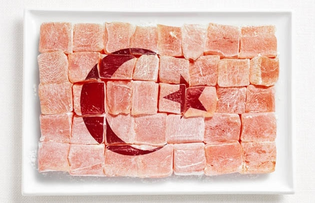 national flag made food14 18 National Flags Made From Food
