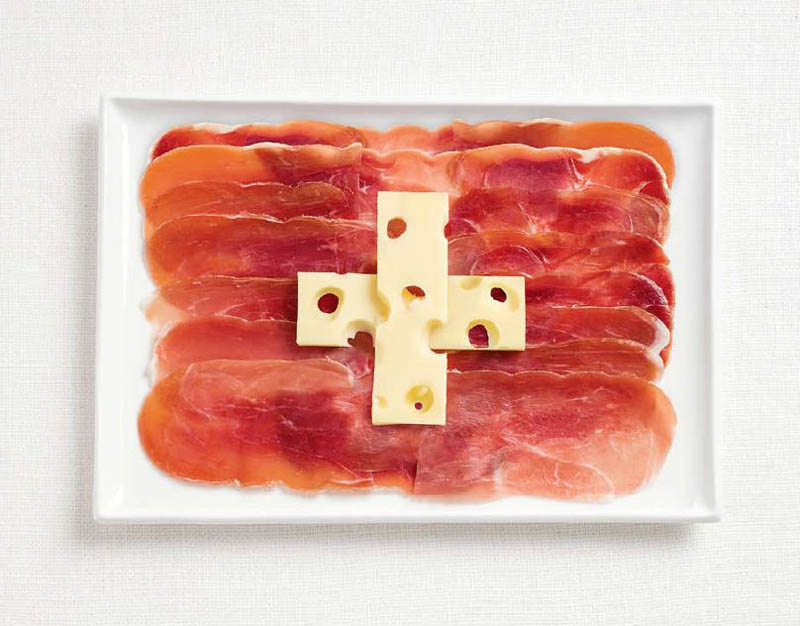 national flag made food18 18 National Flags Made From Food