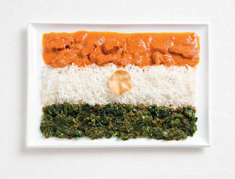 national flag made food2 18 National Flags Made From Food