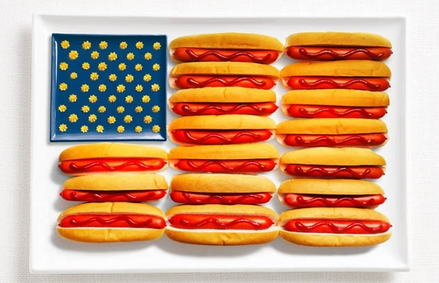 national flag made food5 18 National Flags Made From Food
