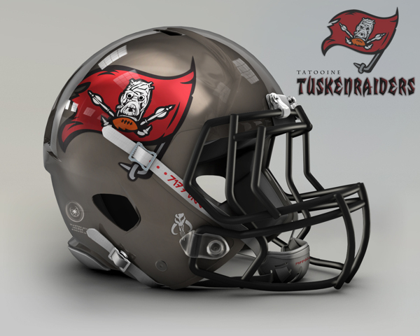 1b43f19c4e2df8b139128736ad750887 NFL Helmets Receive Star Wars Treatment with Mash Up