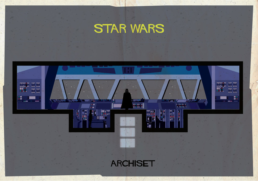 star wars 17 Beautifully Geeky Posters Of Classic Film Interiors