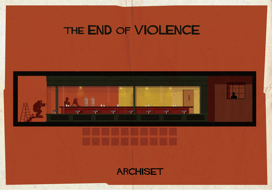 the end of violence 17 Beautifully Geeky Posters Of Classic Film Interiors