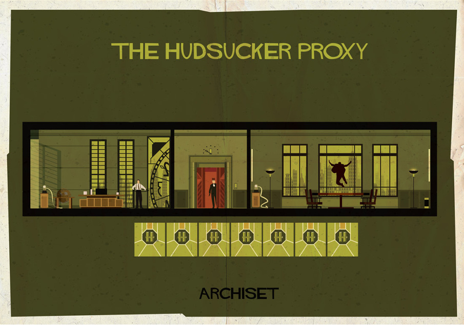 the hudsucker proxy 17 Beautifully Geeky Posters Of Classic Film Interiors