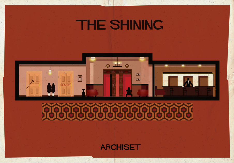the shining 17 Beautifully Geeky Posters Of Classic Film Interiors