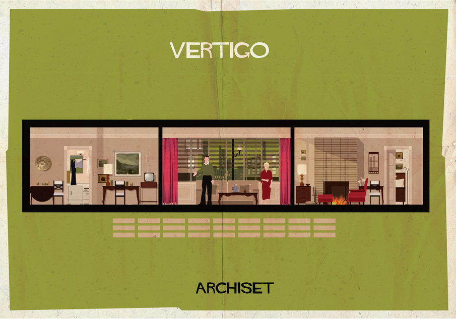 vetigo 17 Beautifully Geeky Posters Of Classic Film Interiors