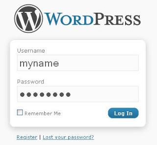 wordpress login form Should I Use Wordpress For My Business Website?